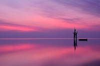 The lighthouse of Constance before sunrise, County of Constance, Baden_Wuerttemberg, Germany, Europe
