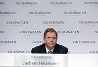 Prof. Dr. Jochem Heizmann, Member of the Board of Management of the Volkswagen AG, responsible for Group Production, during the annual press conferenc...