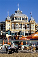 Steigenberger Kurhaus Hotel, a luxury hotel on the beach of Scheveningen, a sophisticated seaside resort neighbouring Den Haag on the Dutch North Sea ...