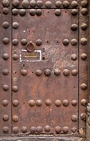 Old iron door, Seville, Andalusia, Spain, Europe