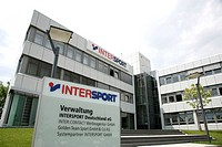 Headquarters of Intersport Deutschland eG, join of independent specialized dealers for sports equipment, in Heilbronn, Baden-Wuerttemberg, Germany, Eu...