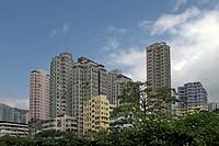 Skyscrapers, Hong Kong, China, Asia
