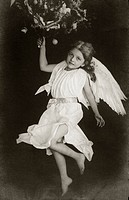 Angel, historic photograph, around 1915