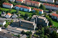 Aerial photo, tax office, Arnsberg, Hochsauerlandkreis, Sauerland, North Rhine_Westphalia, Germany, Europe