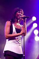 British soul singer Beverly Knight live at the Blue Balls Festival in the concert hall of the KKL Lucerne, Switzerland