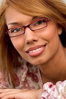 young woman bespectacled