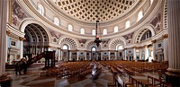The magnificent interior of Mosta Dome, or Rotunda of Santa Marija Assunta, Mosta, Malta, Europe
