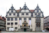 Town Hall built in the Weser Renaissance style, Hann. Muenden, short for Hannoversch Muenden, Lower Saxony, Germany, Europe