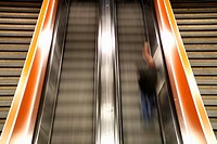 escalator at the southern railway station, Austria, Vienna