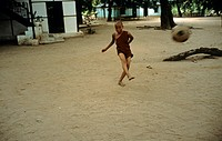 Novice with soccer, Burma