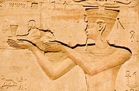 Relief on the Horus Temple, Edfu, Egypt, Africa