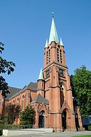 Alte Kirche, Old Church, Altenessen, Essen, North Rhine_Westphalia, Germany, Europe