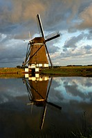 Windmill at sunrise, Netherlands, Texel