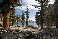 Inyo National Forest, California - Lone Pine Lake at approximately 9900 feet elevation on Mt  Whitney in the Sierra Nevada range  Mt  Whitney is the h...