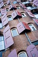 Architecture detail in Amsterdam, Netherlands, Europe