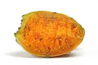 Indian fig, cactus pear Opuntia ficus_indica, Opuntia ficus_barbarica, origin: Mexico