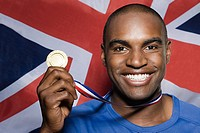 British athlete with a gold medal