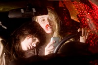 Two young women in a car accident (thumbnail)