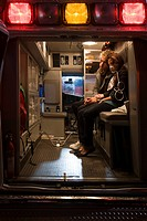 Teenage couple in ambulance (thumbnail)