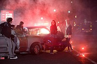 Young people involved in car crash (thumbnail)
