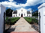 Church in the town of Franschhoek