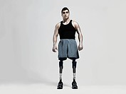 Man with prosthetic legs (thumbnail)