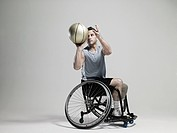 Wheelchair basketball player