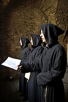 Monks singing in the monastery, Tallinn, Estonia, Baltic States, North Europe