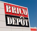 Logo of the French DIY chain store Brico Depot in France, Europe