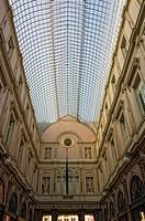 Shopping passage Royal Galleries of Saint_Hubert, Brussels, Belgium / Galeries Royales Saint_Hubert, Galeries Royales St Hubert