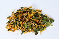 Herb tea, purging tea, birch leaves, dandelion roots, horsetail, nettle, marigold, holy thistle