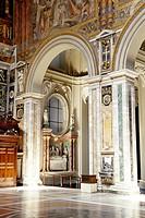 San Giovanni Church Basilica in Laterno, early Christian church, interior, mural art, Piazza di Porta San Giovanni Square, Rome, Italy, Europe