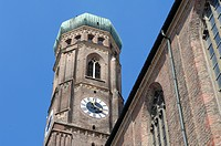 Tower of the Frauenkirche Church, Munich, Bavaria, Germany, Europe