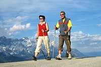 Nordic walking _ couple