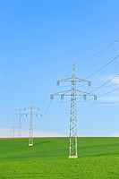 Power poles, transmission lines