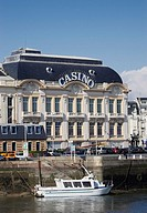 Trouville Casino from Quai des Yachts Deauville, Normandy, France, Europe