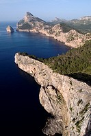 View of Cabo cape de Formentor  Mallorca  Balearic Islands  Spain