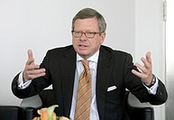 Wolfgang F. Driese, chairman of the board of the DVB Bank AG, in Frankfurt am Main, Hesse, Germany, Europe