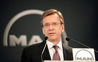 Hakan Samuelsson, CEO of MAN AG during a press briefing on annual results on 21/2/2006 in Munich Bavaria, Germany, Europe