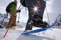 Schneeschuhlaufen in Saas Fee