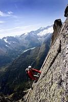 Klettern am Salbit über der Göscheneralp UR