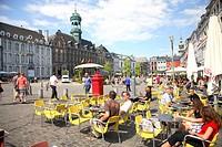 Market Square in Mons, Bergen, Belgium