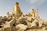 Ruins of Zeus temple, Gerasa, Jordan