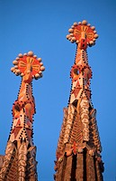 Spires  La Sagrada Familia  Barcelona  Catalonia  Spain