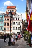Warsaw, Warszawa, Poland, houses in the Nowe Miasto Rynek Starego