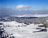 winter landscape, Germany, Bavaria, Reichersbeuern