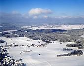 winter landscape, Germany, Bavaria, Reichersbeuern