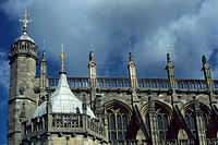 Windsor Castle, St. Georgs Chappel at stormy atmosphere, United Kingdom, England, Berkshire, Windsor