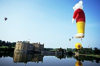 Rupert the Bear hot air balloon over Leeds Castle