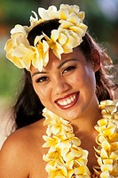 Hawaiian girls of the island Oahu, USA, Hawaii